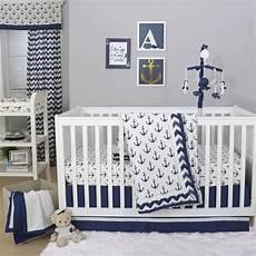 the peanut shell 3 baby crib bedding set navy blue