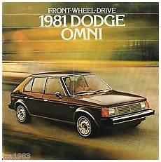 1981 Dodge Omni Dealer Sales Brochure Catalog With Color