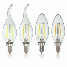 E10 Candle Light Bulbs E12 2w Cob Edison Filament Bulb Led Candle Light Lamp Bulb