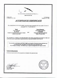 Sample Of Certificate Of Acceptance Type Certificates Dynamic Wt9 Ul