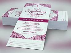 Fundraising Ticket Template Fundraising Luncheon Ticket Template On Behance