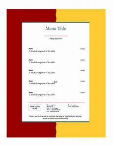 Free Restaurant Menu Templates For Microsoft Word Free Restaurant Menu Templates Word Templates For Free