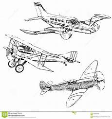 Airplanes Drawings Airplanes Drawings Stock Vector Illustration Of Plane