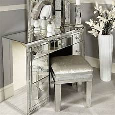 white glass 7 drawer mirrored dressing table 7