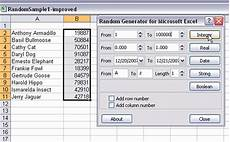 Excel Random Number Random Sampling With Excel
