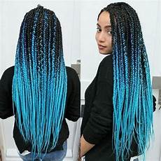 Light Blue Braiding Hair Box Braids With Color 30 Colored Box Braids Styles
