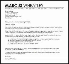 Auto Mechanic Cover Letter Automotive Mechanic Cover Letter Sample Cover Letter