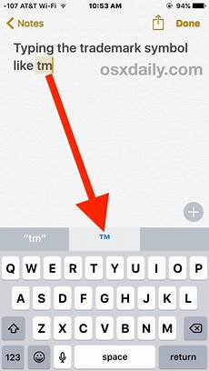 How To Write Copyright How To Type Trademark Copyright Symbols On Iphone And Ipad