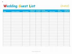 Free Wedding Guest List Template 7 Free Wedding Guest List Templates And Managers
