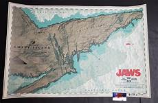 Anthony Petrie Jaws Chum Chart Movie Poster Green Variant