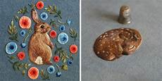 embroidery animals beautiful tiny animals embroidered by giordano