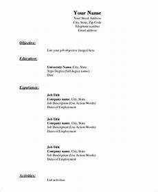 Example Of A Simple Job Resume Free 9 Simple Resume Examples In Ms Word Pdf