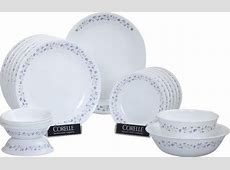 CORELLE Lilac Blush Pack of 21 Dinner Set Price in India