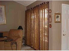 Bamboo Vertical Blinds Sliding Glass Doors   Decor