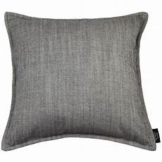 mcalister textiles charcoal grey cushion