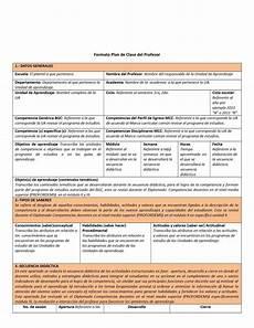 Formato Para Planear Una Clase Formato De Plan De Clase Incluye Ejemplo De Planeacion