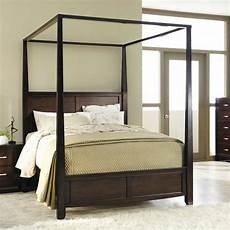 king size sturdy wood frame canopy bed in from hearts attic