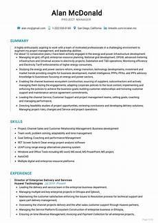 Project Cv Senior Project Manager Resume Sample Cv Sample 2020