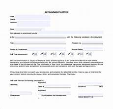 Sample Appointment Letter Download Sample Appointment Letter 28 Download Free Documents In