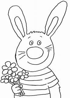 Gratis Malvorlagen Osterhase Kostenlose Malvorlage Ostern Osterhase Mit Blumenstrau 223