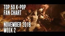 2018 Pop Charts Top 50 K Pop Songs Chart November 2018 Week 2 Fan Chart