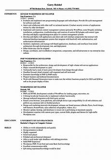 Wordpress Developer Resume Wordpress Developer Job Description Template The Best