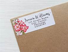 Custom Return Label 30 Custom Return Address Labels Floral Tropical Flowers
