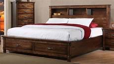 brown rustic classic 6 california king bedroom set