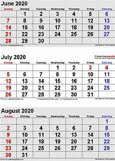planner june 2020 june 2020 july 2020 calendar templates for word excel and pdf