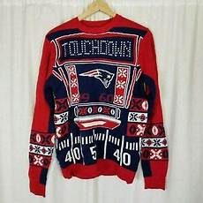 Nfl Patriots Light Up Sweater New England Patriots Nfl Touchdown Light Up Ugly Christmas