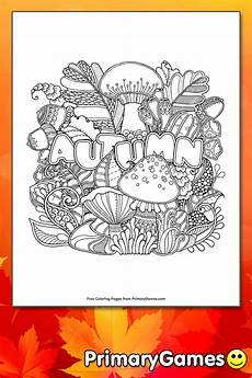 autumn coloring page printable fall coloring ebook