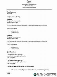 How To Make A Simple Cv Simple Cv Template In Word How To Write A Cv