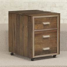 2 drawer mobile file cabinet with metal trim and casters