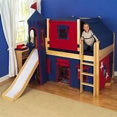 maxtrix king s castle low loft bed with slide