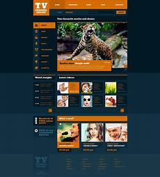 Tv Template Fashionable Tv Channel Website Template 47350