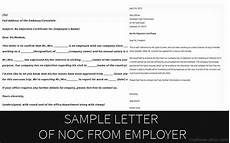 Sample Of No Objection Letter From Employer Sample Letter Of No Objection Certificate From Employer