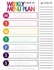 Weekly Dinner Schedule Weekly Dinner Meal Planner Free Printable Included