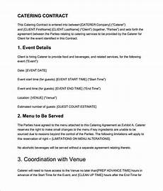 Catering Contracts Samples Catering Contract Templates Word Excel Fomats