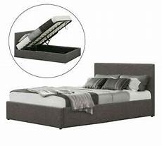 linen fabric ottoman storage lift up bed frame 3ft 4ft6