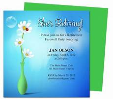 Retirement Party Invitation Template Word Tips On How To Create Appealing Retirement Party Invitations