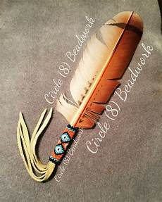 custom order beaded feather quot circle 8 beadwork