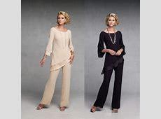 Plus Size Cheap Black Beige Mother Of The Bride Pant Suits