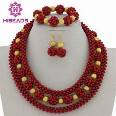 Different Bead Necklace Designs 2017 Red Coral Bead Sets Jewelry Latest Design Nigerian