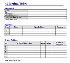 Meeting Minutes Templates Word Meeting Minutes Template 16 Download Free Documents In