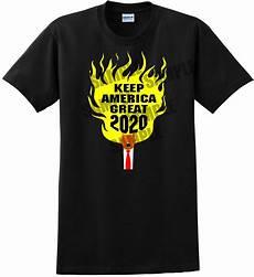 New Shirts 2020 Donald Trump 2020 Flaming Hair Black T Shirt 2020 Election