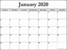 Large 2020 Calendars January 2020 Blank Calendar Templates