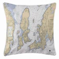 Chart House Narragansett Ri Narragansett Bay Ri Nautical Chart Pillow Throw