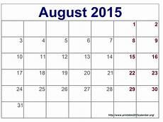 Calendar 2015 August August 2015 Blank Calendar Printable Template Word Excel