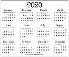Images Of 2020 Calendar Download 2020 Calendar Pdf Templates