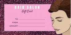 Hair Salon Gift Certificate Template Free Easy To Edit Hair Salon Gift Certificates